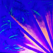 Decent into darkness by Alice White (pt2) Painting under ultraviolet light
