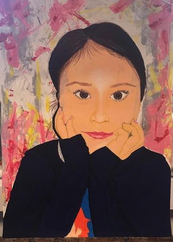 Portrait of sister by Ksenija Kudravceva