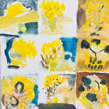 Yellow studies 3x3 by Kim Laurette