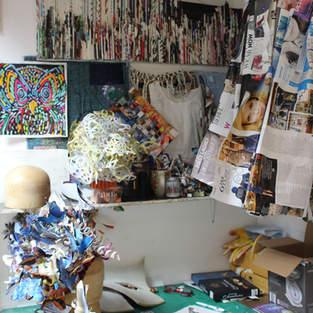 Hat making in studio space