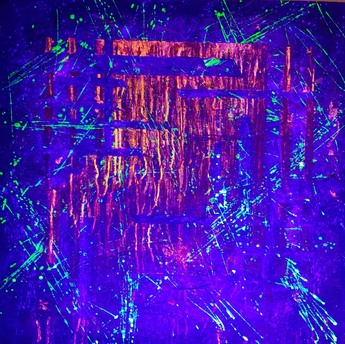 Bleed Myself Home by Alice White (pt2) Painting under ultraviolet light