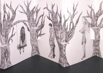 Journey concertina book by Zaiya Hollander