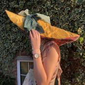 Oversize Tartan hat by G A Clarke (pt2) Photograph featuring: Oversized Tartan Hat and Photo Transfer Two Piece.