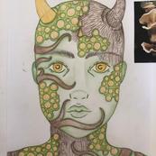 Woodlands makeup design by Eleanor Southam (ft)
