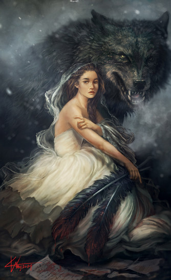 Girl and her Wolf