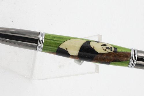 ballpoint pen with panda inlay