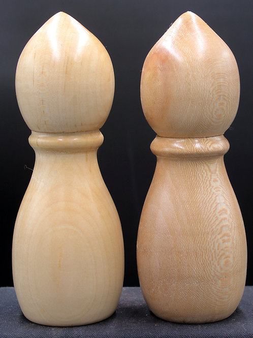 Set of Maple Crush Grind Pepper and Salt Mills