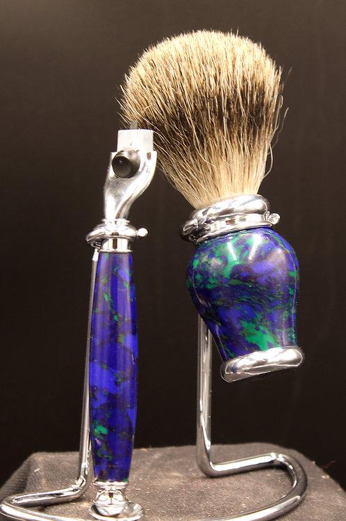 Shaving Sets Made From BlocksOf Mineral