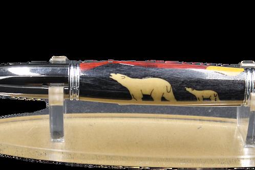 Polar Bear Inlay Ballpoint Pen