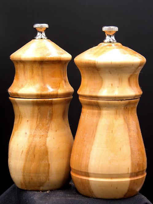 6 Inch Apple Wood Pepper and Salt Mills