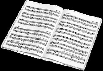 Notenblatt zum Klavier lernen in der Musikschule Kechter in Traunreut