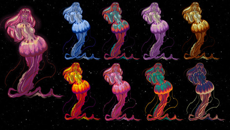 Jellyfish Woman Color Options