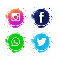 le-belle-icone-sociali-di-media-hanno-fi