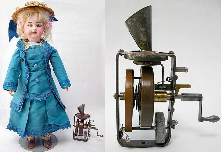 Edison's talking doll with phonograph