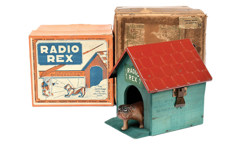Radio Rex toy from 1922 was the first voice activated toy and product