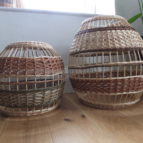 Woven willow lighting