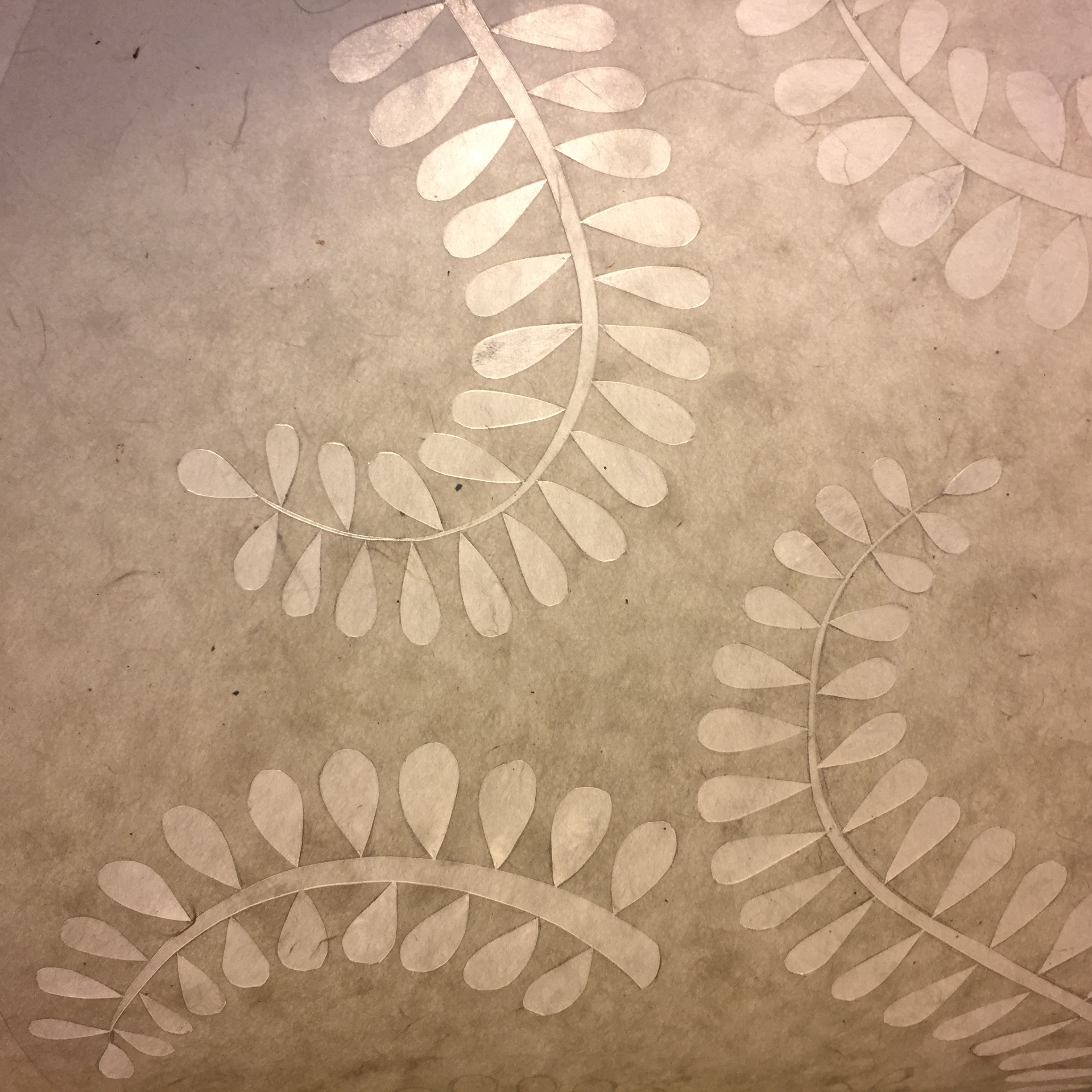 paper-cut leaves
