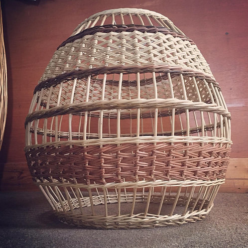Handwoven willow lampshade- large