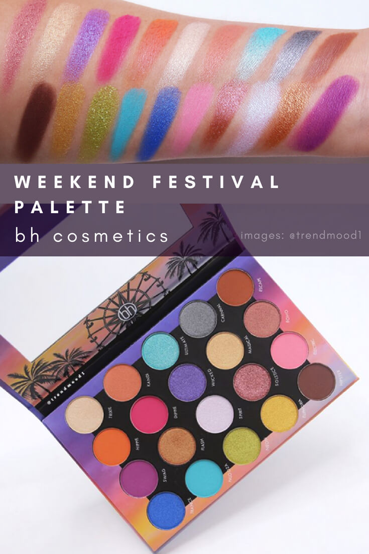 Weekend Festival Palette by BH Cosmetics #eyeshadow #makeup #shimmer