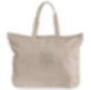 babe demon natural canvas tote bag