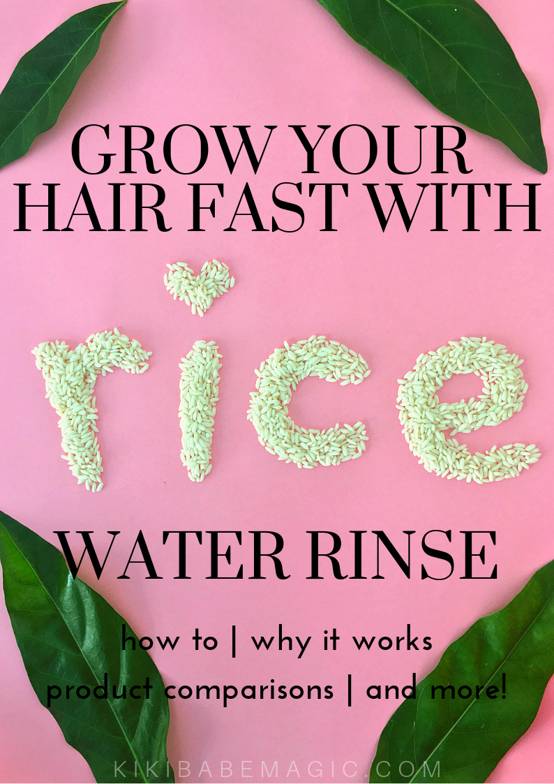 Natural hair growth tip: How to grow your hair fast cheap easy with fermented rice water hair rinse - DIY remedy for  long thick hair growth tips - beauty magic wellness  blog kikibabemagic.com
