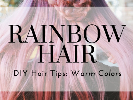 Rainbow Hair DIY Tips: Pastel Pinks