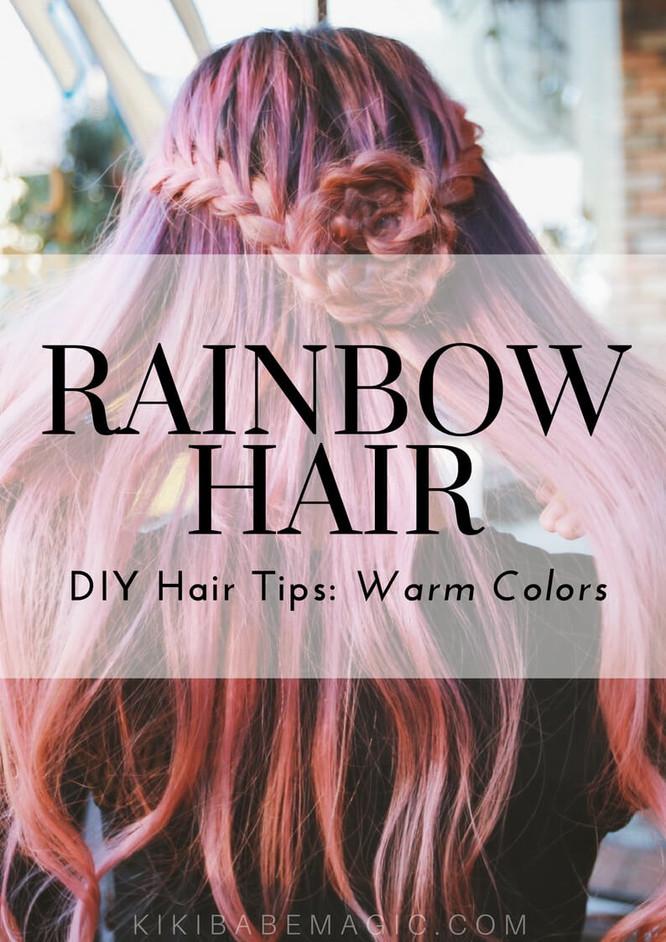 Rainbow Hair DIY Tips: Pastel Pinks