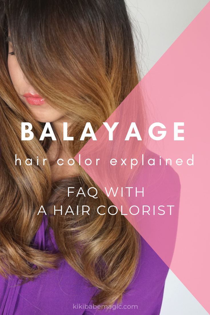 Balayage hair color explained - FAQ with hair colorist Kiriko Kikuchi @kikibabemagic