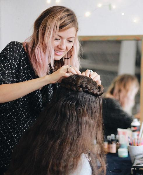 Kiriko Kikuchi hairstylist makeup artist witch Braid Bar San Francisco Bay Area California