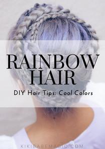 Rainbow Hair DIY Tips: Cool Colors