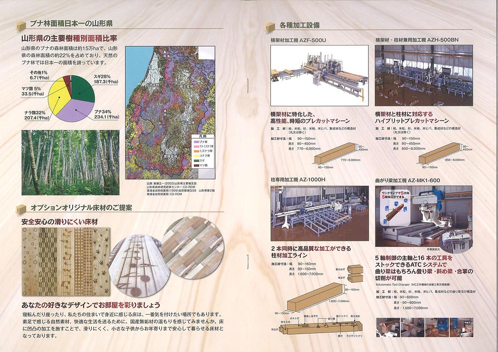 オリジナル床材とプレカット加工機の紹介