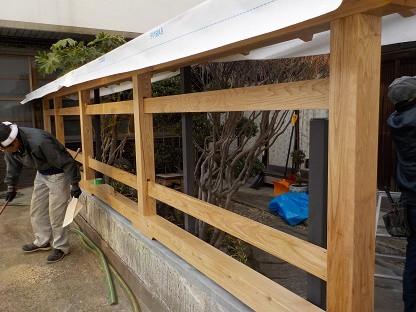 板塀の建て方工事