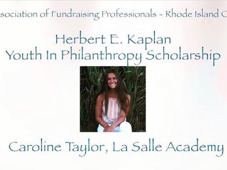 National Philanthropy Day 2020: Herbert E. Kaplan Youth in Philanthropy Scholar