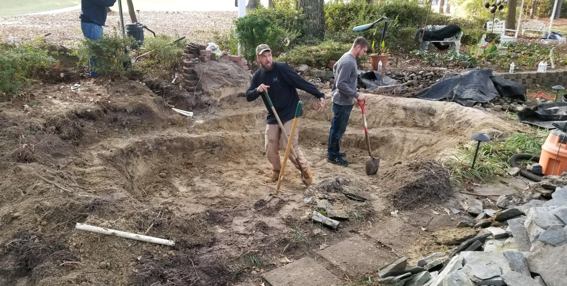 5. Shaping the Soil Of The New Pond