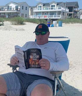 Beach Bum Reading My Book