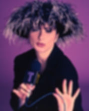 Jeanne Becker and Ostrich feather hat