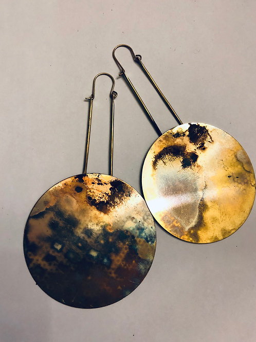 moon baby earrings