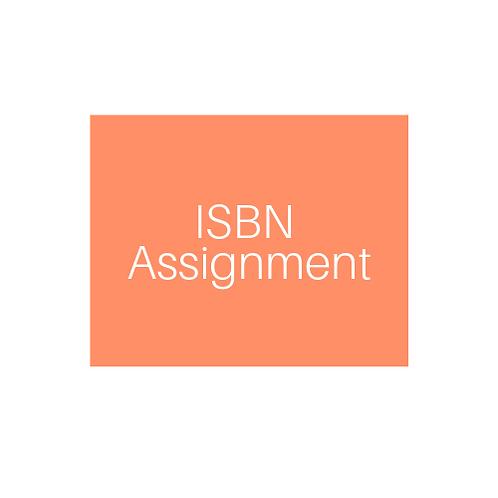 ISBN Assignment