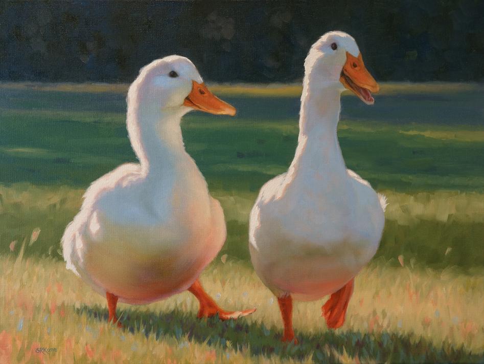 Lucky Ducks, 18x24 web