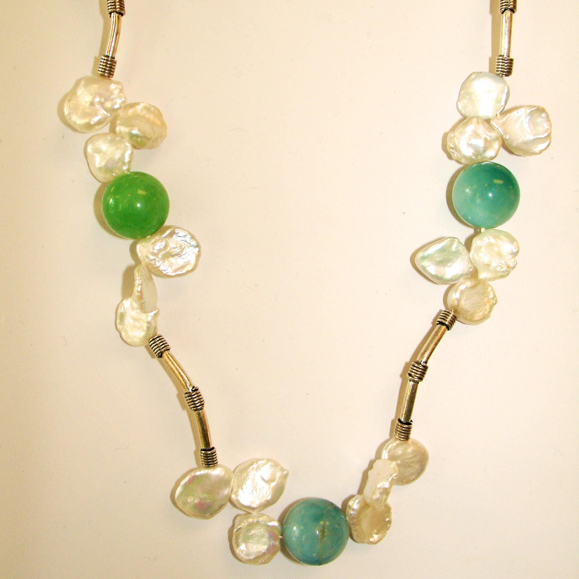 Pearls and Amazonite Necklace 242