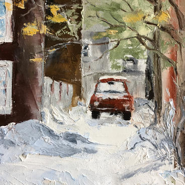 """Montreal back alley"" by Denise Langlois"