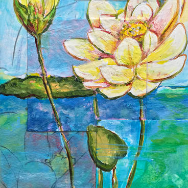 """Yellow Lotus"" by Delphine Peller"