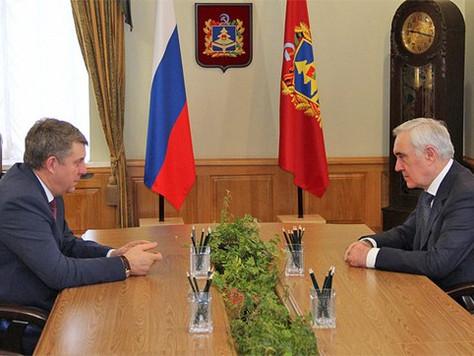 Мурат Зязиков и Александр Богомаз обсудили социально-экономическое развитие Брянщины