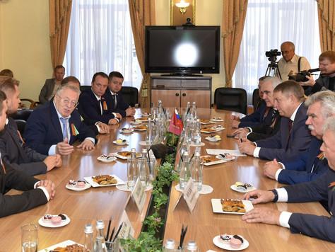 Рабочая встреча с председателем политической партии ЛДПР Владимиром Жириновским