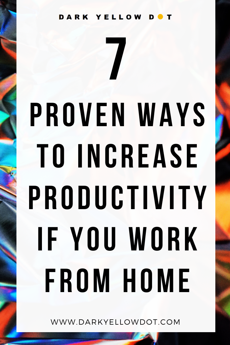 how to be productive if you work form home online - dark yellow dot