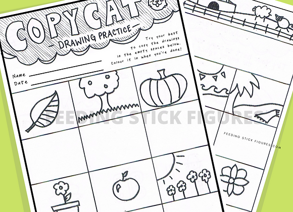 Copy Cat Directed Drawing Activity