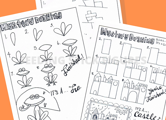 Mystery Drawings Bundle of 3
