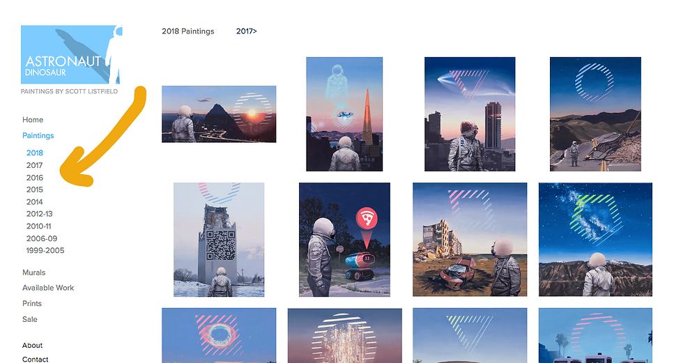 Astronaut Dinosaur - Scott Listfield paintings website