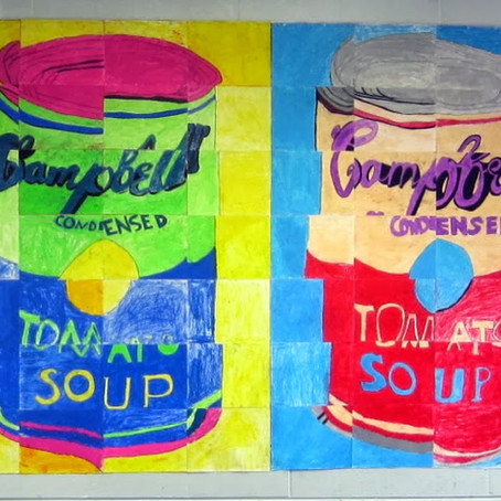 Andy Warhol Campbell's Soup Art Class Mural Project