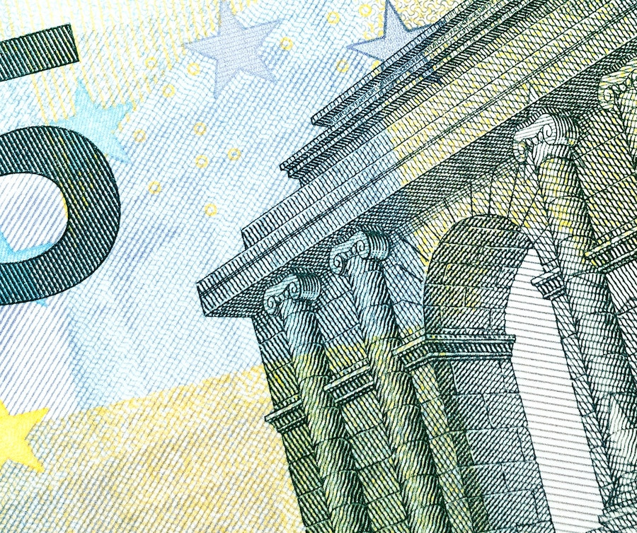Five Euro note money cash in europe